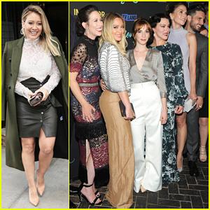 Hilary Duff Celebrates 29th Birthday At 'Younger' Season Three Premiere!