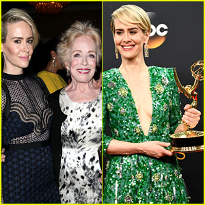 Holland Taylor Has Adorable Reaction to Girlfriend Sarah Paulson's Emmy Win!