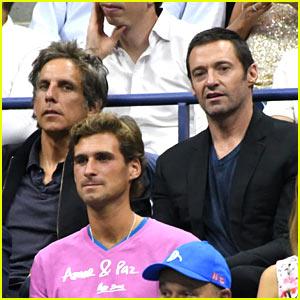 Ben Stiller & Hugh Jackman Double-Date at the US Open 2016!