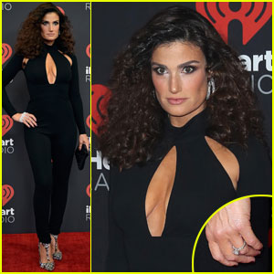 Idina Menzel Shows Off Sparkly Engagement Ring in Vegas