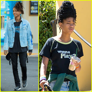 Jaden & Willow Smith Hang Out Separately in LA
