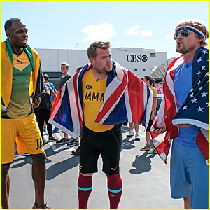 James Corden Races Usain Bolt in Funny Video - Watch Now!