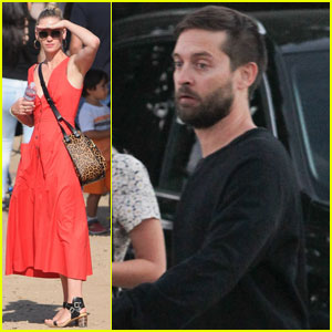 January Jones & Tobey Maguire Hit Up Malibu Chili Cook-Off