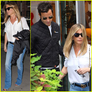 Jennifer Aniston & Justin Theroux Couple Up for NYC Shopping