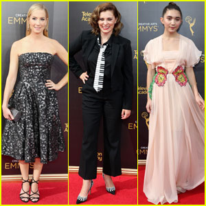 Joanne Froggatt & Rachel Bloom Get Dolled Up for Creative Arts Emmy Awards 2016