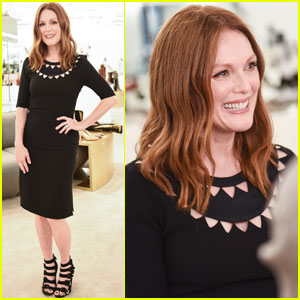 Julianne Moore Helps Unveil New Saks Fifth Ave Store During NYFW