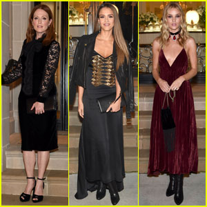 Julianne Moore & Jessica Alba Stun at Ralph Lauren Show