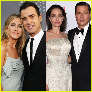 Jennifer Aniston's Husband Justin Theroux Comments on Angelina Jolie & Brad Pitt Divorce
