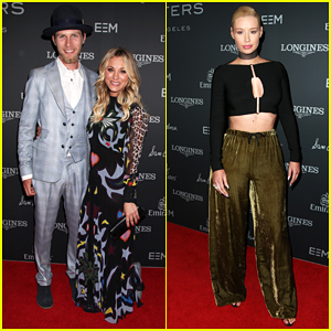 Kaley Cuoco & Boyfriend Karl Cook Make Their Red Carpet Debut At Longines Masters Gala!