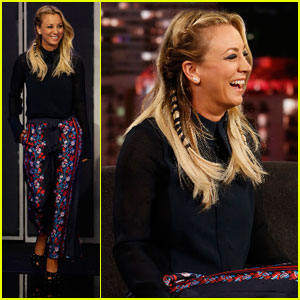 Kaley Cuoco Talks Future of 'Big Bang Theory' on 'Kimmel'