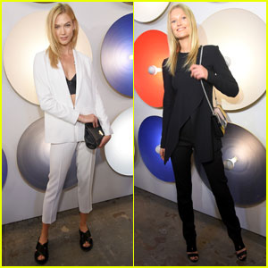 Karlie Kloss & Toni Garrn Sit Front Row at 'Boss' NYFW Show