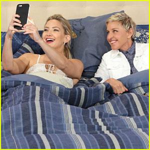 Kate Hudson & Ellen DeGeneres Snapchat From Bed!