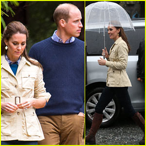 Kate Middleton & Prince William Visit a Rainforest During Their Royal Tour of Canada