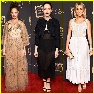 Katie Holmes, Rooney Mara & Sienna Miller Get Glam for Cartier Fifth Avenue Grand Reopening!