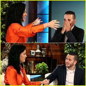 Katy Perry Surprises Orlando Shooting Victim Tony Marrero on 'Ellen' - Watch Now!