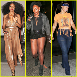 Kelly Rowland, Serena Williams & Alicia Keys Celebrate Beyonce's 35th Birthday At Soul Train-Themed Party!
