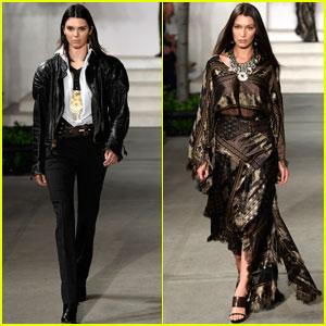 Kendall Jenner & Bella Hadid Walk the Ralph Lauren Runway