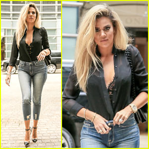 Khloe Kardashian Promotes New Denim Line in NYC!