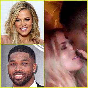 Khloe Kardashian & Tristan Thompson Kiss in a Snapchat Video