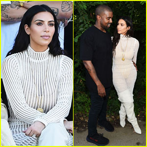 Kim Kardashian Sits Front Row at Kanye West's 'Yeezy' Season 4 Runway Show