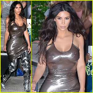 Kim Kardashian Wears Shiny Skin-Tight Dress for Kanye West's Second MSG Show!