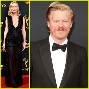 Kirsten Dunst & Jesse Plemons Walk Emmys 2016 Red Carpet Separately