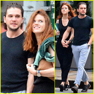 Rose Leslie & Kit Harington Hold Hands in New York City