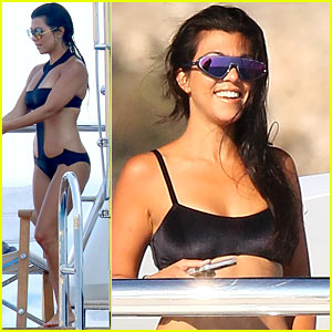 Kourtney Kardashian Continues Her European Vacation on a Yacht in Monaco!