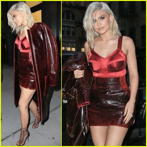 Kylie Jenner Shows Off New Blonde Hair During a Night Out