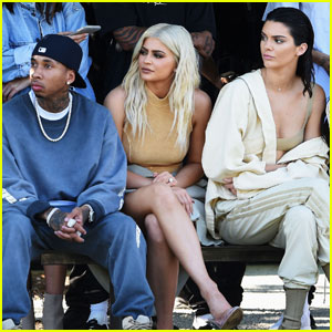 Kendall & Kylie Jenner Stop By Kanye West's 'Yeezy' Fashion Show