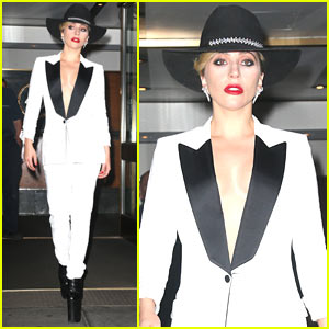 Lady Gaga Rocks Sky-High Heels to Event for Her Foundation!