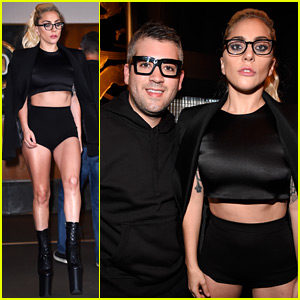 Lady Gaga Supports Stylist Brandon Maxwell at His NYFW Show