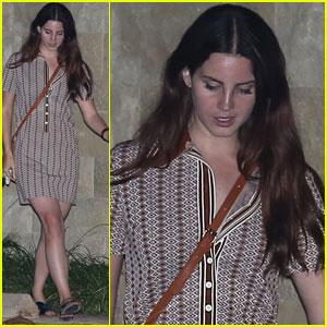 Lana Del Rey Enjoys Malibu Night Out Before Montreal Trip