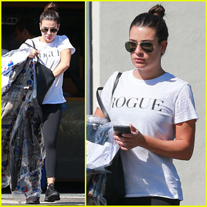 Lea Michele Runs Errands on Her Day Off