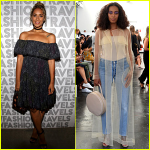 Leona Lewis & Solange Knowles Step Out for NYFW Events