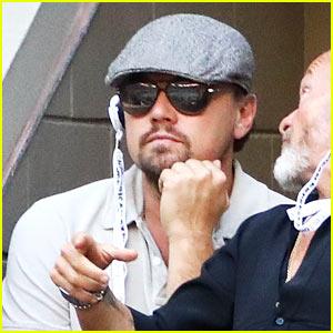 Leonardo DiCaprio Watches Intently as Stan Wawrinka Defeats Novak Djokovic