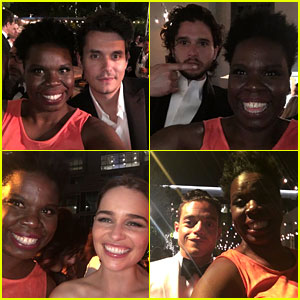 Leslie Jones Met So Many Stars at the Emmys - See Her Selfies!