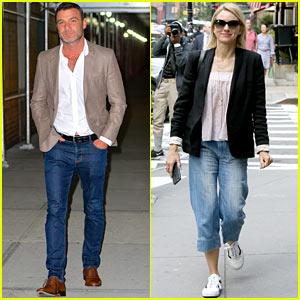 Liev Schreiber & Naomi Watts Send Their Sons Back to School!