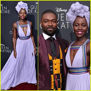 Lupita Nyong'o Stuns at 'Queen of Katwe' Hollywood Premiere with David Oyelowo!