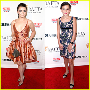 Millie Bobby Brown & Maisie Williams Celebrate The Emmys at BAFTA's Tea Party