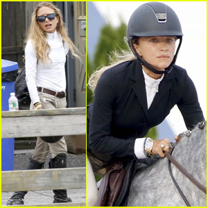 Mary-Kate Olsen Shows Her Skills at the Hampton Classic Horse Show
