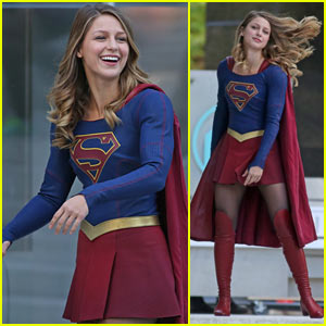 Melissa Benoist is All Smiles While Filming 'Supergirl'!