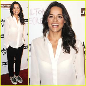Michelle Rodriguez Debuts 'Milton's Secret' In L.A - Watch Trailer!