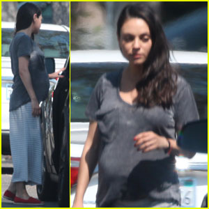 Mila Kunis Puts Her Baby Bump on Display in Burbank
