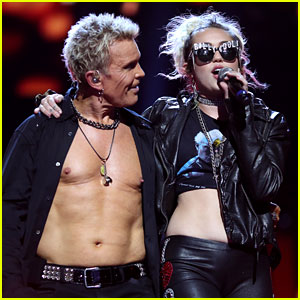 Miley Cyrus Performs 'Rebel Yell' with Billy Idol at iHeartRadio Music Festival in Vegas!