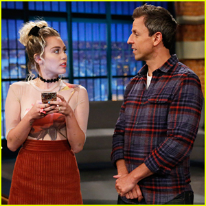 Miley Cyrus Is Unimpressed By Seth Meyers In Forced Friendship 'Late Night' Sketch! (Video)