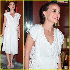 Pregnant Natalie Portman Skips Champagne Toast in Venice