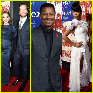 Nate Parker, Gabrielle Union, & More Premiere 'Birth of a Nation' in Hollywood