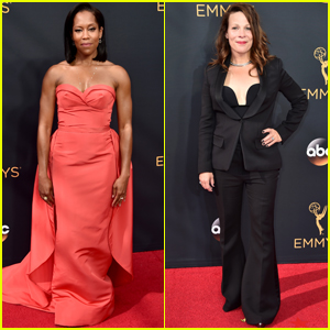 Regina King & Lili Taylor Step Out at Emmy Awards 2016