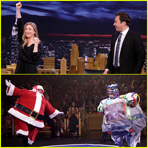 Renee Zellweger Wrestles & Cheers with Jimmy Fallon - Watch Now!